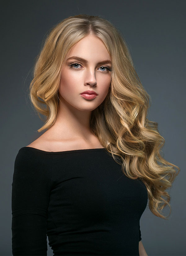 Lily of New York Salon Blonde Sleek Hairstyle and Color